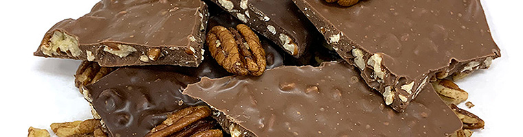 Chocolate Bark with pecans